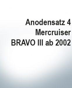 Sets of anodes | Mercruiser BRAVO III since 2003 (Zinc) | 9701 9702 9719 9721