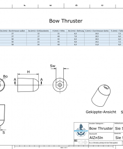 Bow-Thruster BP-1221 / SW17 (AlZn5In) | 9613AL