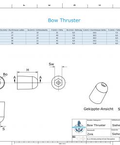 Bow-Thruster 687-201180 BOW 50 / SW24 (Zinc)   9615