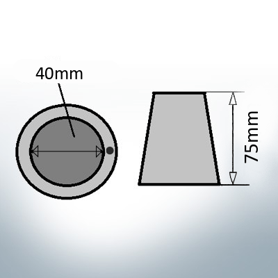 Shaftend-Anodes with carrier punch 40 mm (Zinc) | 9638