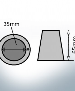 Shaftend-Anodes with carrier punch 35 mm (Zinc) | 9637
