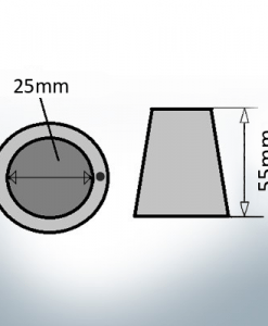 Shaftend-Anodes with carrier punch 25 mm (AlZn5In)   9636AL