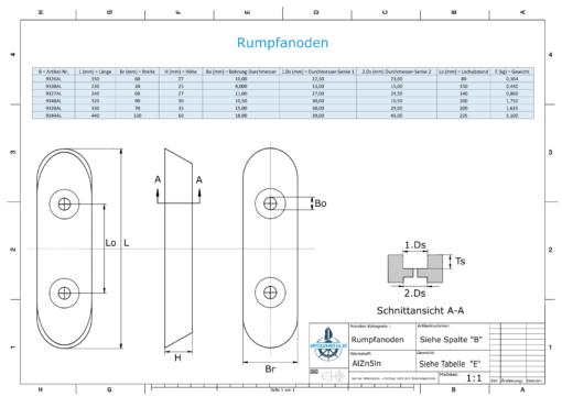 Block- and Ribbon-Anodes Block L235/140 (AlZn5In)   9327AL