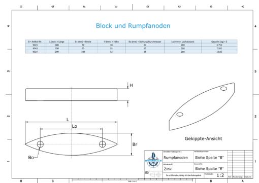 Block- and Ribbon-Anodes Block L290/200 (Zinc)   9324
