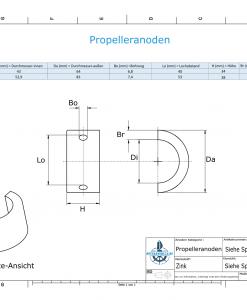 Propeller Anode suitable for Varifold VF-70 (Zinc)   9634