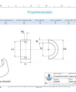 Propeller Anode suitable for Varifold VF-70 (AlZn5In)   9634AL