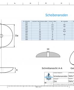 Disk-Anodes 35x6 Ø35 mm (Zinc) | 9816