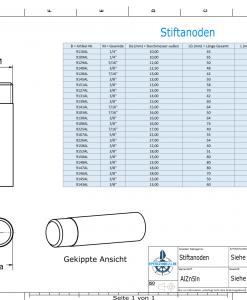 Bolt-Anodes 7/16'' 20G Ø13/L32 (AlZn5In) | 9128AL