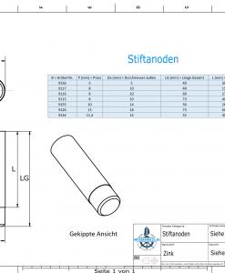 Bolt-Anodes 10 mm Press Ø14/L26 (Zinc) | 9155