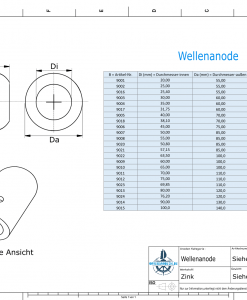 Shaft-Anode with metric inner diameter 60 mm (Zinc) | 9009