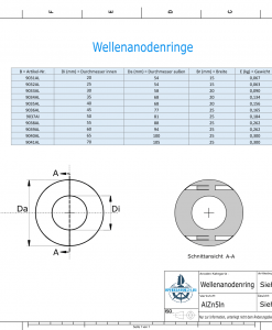 Shaft-Anode-Rings with metric inner diameter 70 mm (AlZn5In) | 9041AL