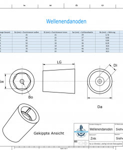 Shaftend-Anodes with hexagon socket SW36 (Zinc) | 9420