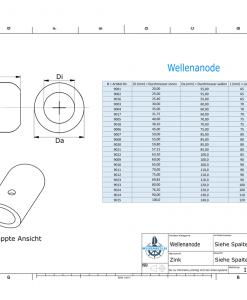 Shaft-Anode with metric inner diameter 30 mm (Zinc)   9003