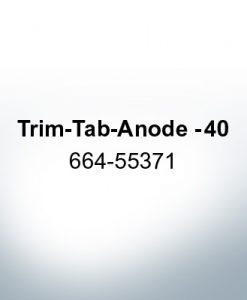 Anodes compatible to Mercury   Trim-Tab-Anode -40 664-55371 (Zinc)   9716