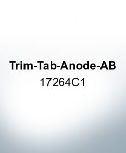 Anodes compatible to Mercury   Trim-Tab-Anode-AB 17264C1 (AlZn5In)   9720AL