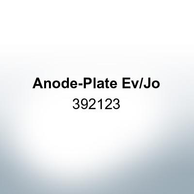 Anodes compatible to Mercury | Anode-Plate Ev/Jo 392123 (Zinc) | 9529