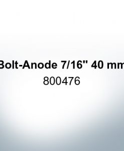 "Anodes compatible to Volvo Penta | Bolt-Anode 7/16"" 40mm 800476 (AlZn5In) 