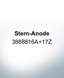 Anodes compatible to Volvo Penta   Stern-Anode 3888816A 17Z (AlZn5In)   9239AL