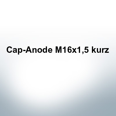 Anodes compatible to Volvo Penta | Cap-Anode M14x1,5 short (Zinc) | 9241