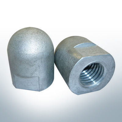 Anodes compatible to Volvo Penta | Cap-Anode M18x1,5 short (Zinc) | 9242