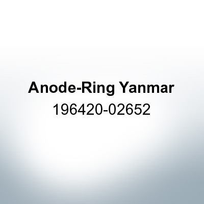 Anodes compatible to Yamaha and Yanmar | Anode-Ring Yanmar 196420-02652 (Zinc) | 9542