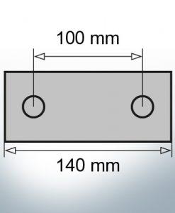 Block- and Ribbon-Anodes Block L140/100 (AlZn5In)   9313AL