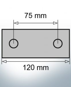 Block- and Ribbon-Anodes Block L120/75 (AlZn5In)   9314AL