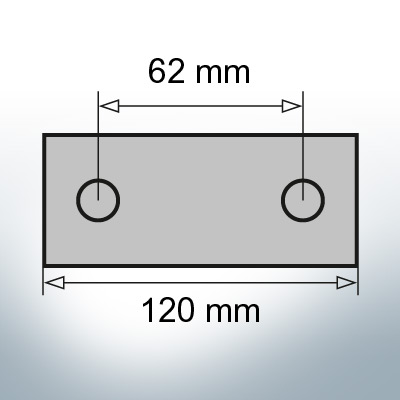 Block- and Ribbon-Anodes Block L120/62 (AlZn5In) | 9315AL