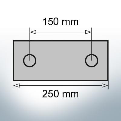 Block- and Ribbon-Anodes Block L250/150 (AlZn5In) | 9322AL