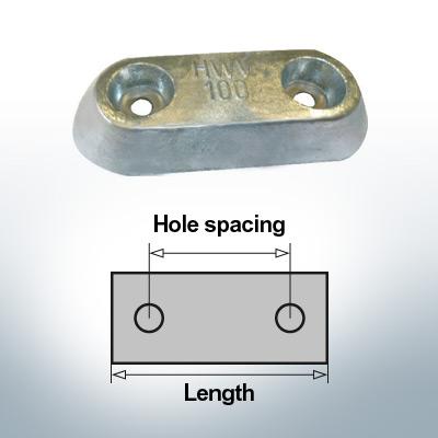 Block- and Ribbon-Anodes Block L150/80 (Zinc) | 9326