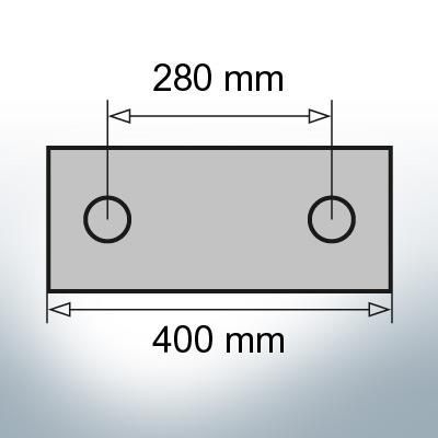 Block- and Ribbon-Anodes Block L400/280 (Zinc) | 9329