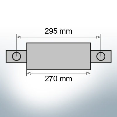 Block- and Ribbon-Anodes Square L270/295 (Zinc) | 9331