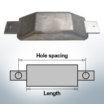 Block- and Ribbon-Anodes Flat-Anode L180/240 (AlZn5In) | 9342AL