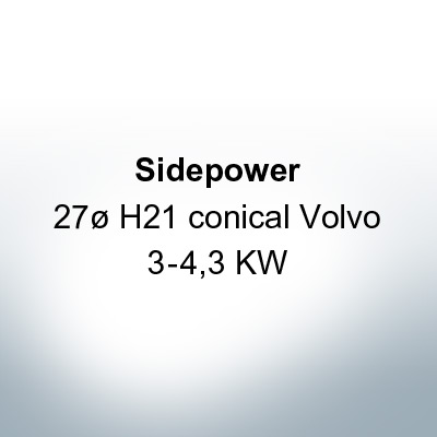Sidepower 27ø H21 conical Volvo 3-4,3 KW (AlZn5In) | 9617AL