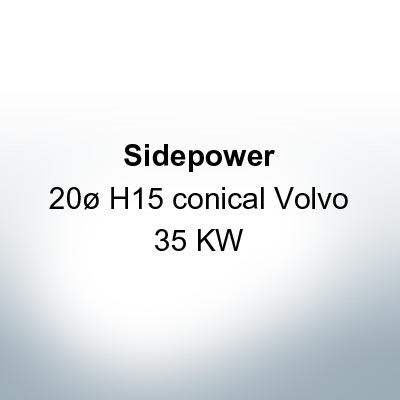 Sidepower 20ø H15 conical Volvo 35 KW (Zinc) | 9618