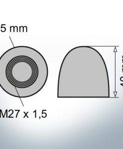 Nut-Caps M27x1,5 Ø35/H40 (AlZn5In) | 9401AL