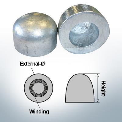 Nut-Caps M52x1,5 Ø75/H50 (AlZn5In) | 9405AL