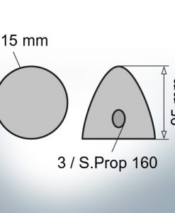Three-Hole-Caps | Prowell Sailprop 160 Ø115/H95 (AlZn5In) | 9411AL