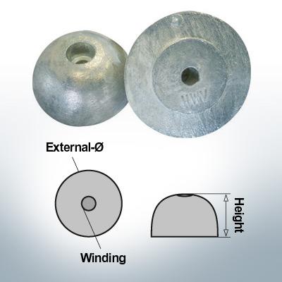 One-Hole-Caps | J. Prop Ø60/H27 (Zinc) | 9427