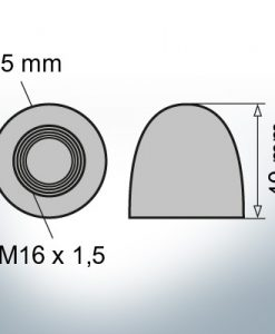 Nut-Caps M16x1,5 Ø45/H40 (Zinc) | 9450