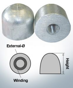 Nut-Caps M16x1,5 Ø45/H40 (AlZn5In) | 9450AL