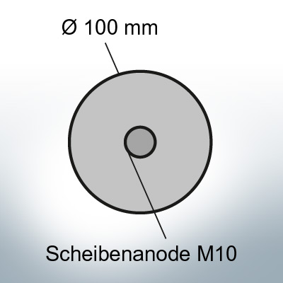 Disk-Anodes Ø 100mm | M10 (AlZn5In) | 9800AL