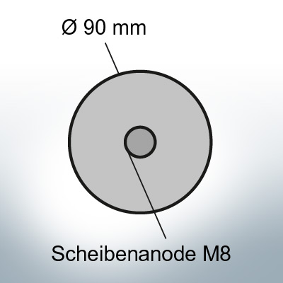 Disk-Anodes with M8 Ø90 mm (Zinc) | 9810