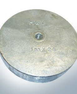 Trim-Tab-Anodes with M8 100x20 Ø100 mm (AlZn5In) | 9813AL
