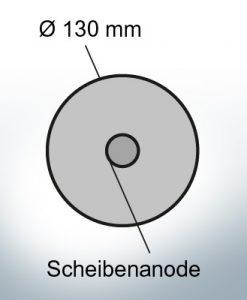 Disk-Anodes Ø 130mm | hole (Zinc) | 9815