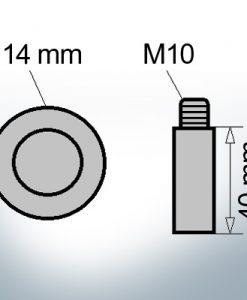 Bolt-Anodes M10 Ø14/L40 (AlZn5In) | 9101AL