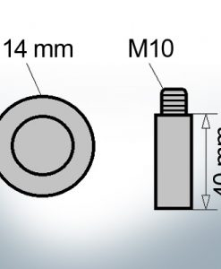 Bolt-Anodes M10 Ø14/L40 (Zinc) | 9101