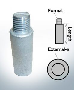 Bolt-Anodes 3/8'' Ø14/L40 (AlZn5In) | 9102AL