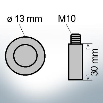 Bolt-Anodes M10 Ø13/L30 (Zinc) | 9106