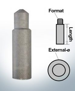 Bolt-Anodes 8mm Press Ø10/L15 (Zinc) | 9117